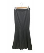 ()の古着「ハイゲージニットスカート」|グレー