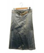 ()の古着「シルクオーガンジースカート」|ブルー