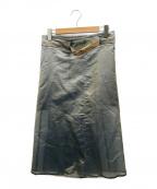 FUMIKA UCHIDA(フミカウチダ)の古着「シルクオーガンジースカート」|ブルー