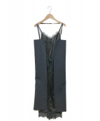 ()の古着「LACE TRIM DRESS」 ブラック