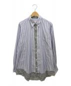 ()の古着「再構築シャツ」 ブルー