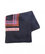 Christian Dior(クリスチャン ディオール)の古着「シルクスカーフ」 ネイビー
