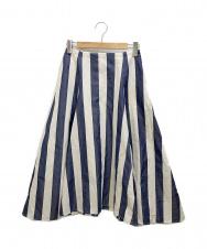 IENA (イエナ) フレアスカート ブルー×ホワイト サイズ:36