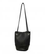 MARCO MASI(マルコマージ)の古着「レザー巾着バッグ」|ブラック