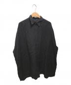 DEUXIEME CLASSE(ドゥーズィエム クラス)の古着「WIDE LINEN シャツ」|ブラック