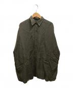 DEUXIEME CLASSE(ドゥーズィエム クラス)の古着「WIDE LINEN シャツ」|ブラウン