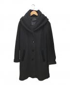 LANVIN COLLECTION(ランバンコレクション)の古着「ショールカラーコート」|ブラック