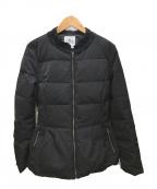 LANVIN en Bleu()の古着「ノーカラーダウンジャケット」 ブラック
