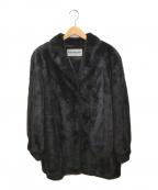 BLACK GLAMA(ブラックグラマ)の古着「ミンクファーハーフコート」|ブラウン