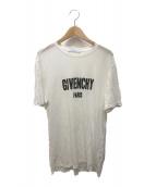 ()の古着「デストロイ加工ロゴTシャツ」 ホワイト