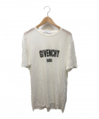 GIVENCHY(ジバンシィ)の古着「デストロイ加工ロゴTシャツ」|ホワイト