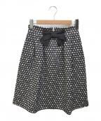 M'S GRACY(エムズグレイシー)の古着「リボンスカート」|ブラック