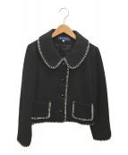 ()の古着「ショートジャケット」 ブラック