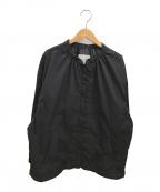 SLOBE IENA(スローブ イエナ)の古着「ノーカラーギャザーブルゾン」 ブラック