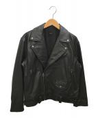 ()の古着「カウレザーオーバーライダース」 ブラック