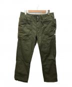 SASSAFRAS(ササフラス)の古着「Fall Leaf Sprayer Pants」 オリーブ