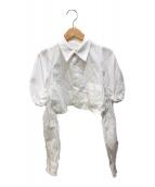 ()の古着「デザインスリーブショートシャツ」 ホワイト