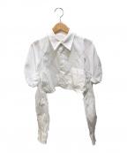 COMME des GARCONS()の古着「デザインスリーブショートシャツ」|ホワイト
