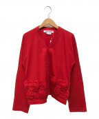COMME des GARCONS()の古着「カットソーカーディガン」|レッド