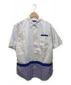 ()の古着「半袖シャツ」 ホワイト×ブルー
