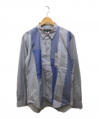 COMME des GARCONS HOMME DEUX(コムデギャルソン オム ドゥ)の古着「ストライプシャツ」|ブルー