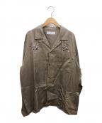TOGA VIRILIS(トーガ ビリリース)の古着「Inner western shirt」 ベージュ