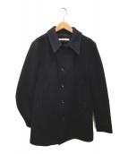 ()の古着「メルトンPコート」 ネイビー