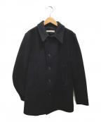 HONOR GATHERING(オナーギャザリング)の古着「メルトンPコート」|ネイビー