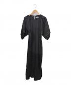 STYLE MIXER(スタイルミキサー)の古着「ランタンスリーブワンピース」|ブラック