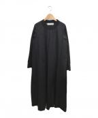 Midi-Umi(ミディウミ)の古着「コットンロングワンピース」|ブラック