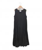 UNITED ARROWS(ユナイテッドアローズ)の古着「ノースリーブワンピース」|ブラック