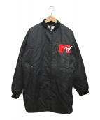 ()の古着「イレギュラーヘムフライトジャケット」 ブラック