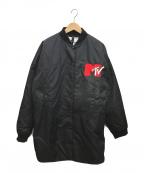 H&MOSCHINO(エイチアンドモスキーノ)の古着「イレギュラーヘムフライトジャケット」 ブラック