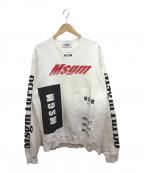 MSGM(エムエスジーエム)の古着「スウェット」 ホワイト