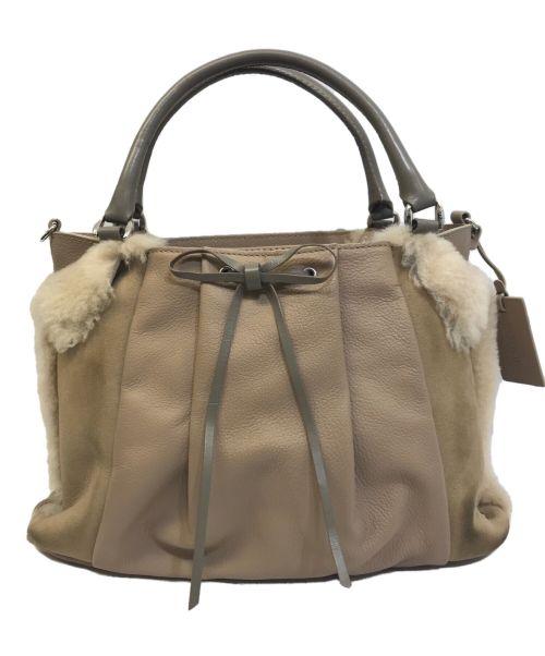 PotioR(ポティオール)PotioR (ポティオール) 2WAYムートンショルダーバッグ ベージュの古着・服飾アイテム