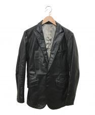 TORNADO MART (トルネードマート) バッファローレザーテーラードジャケット ブラック サイズ:M