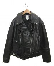 H&M (エイチ&エム) ライダースジャケット ブラック サイズ:Ⅼ