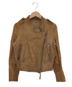 GRACE CONTINENTAL(グレースコンチネンタル)の古着「ラムレザージャケット」|ブラウン