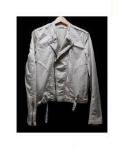 FACTOTUM(ファクトタム)の古着「ライダースジャケット」 ベージュ