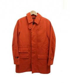 Traditional Weatherwear(トラディショナルウェザーウェア)の古着「ライナー付ステンカラーコート」|オレンジ