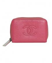CHANEL(シャネル)の古着「キャビアスキンコインケース」 ピンク