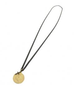 Enasoluna(エナソルーナ)の古着「コインクロスネックレス」|ゴールド
