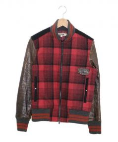 FACTOTUM(ファクトタム)の古着「バーシティジャケット」|レッド×ブラウン