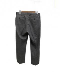 INCOTEX(インコテックス)の古着「ウールパンツ」|ブラック×ホワイト
