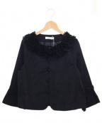 GALLERY VISCONTI(ギャラリービスコンティ)の古着「フリルジャケット」|ブラック
