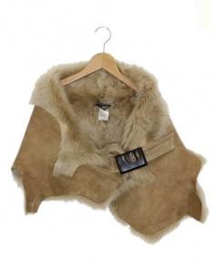 karl donoghue(カール ドノヒュー)の古着「ベルト付ムートンケープ」|ブラウン