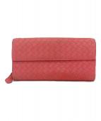 BOTTEGA VENETA(ボッテガベネタ)の古着「2つ折り財布」 ピンク