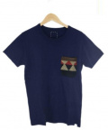 VISVIM()の古着「NATIVE BLANKET POCKET TEE S/S」|ネイビー