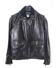 PORSCHE DESIGN(ポルシェ デザイン)の古着「レザージャケット」 ブラック
