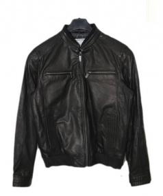 PORSCHE DESIGN(ポルシェ デザイン)の古着「ラムレザージャケット」 ブラック